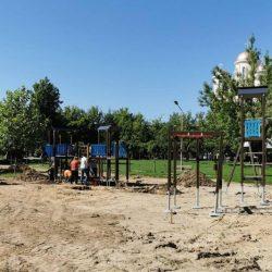 [FOTO] Lucrări în Parcul Tricolorului! Cum va arăta locul de joacă destinat copiilor?